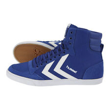 HUMMEL TRAINERS SLIMMER STADIL HIGH CANVAS HI TOPS UK 11 MAZARINE BLUE