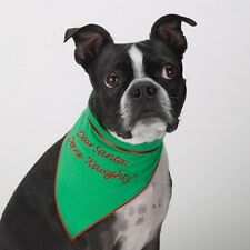 Aria Santa Holiday Bandana Puppy Dog Soft Cotton Velcro GREEN