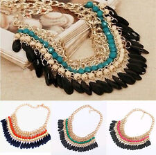Fashion Jewelry Pendant Chain Crystal Bib Choker Chunky Statement Necklace Hot