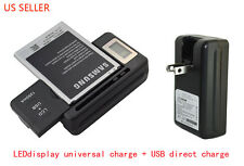 Universal Smart LCD Mobile Cell Phone Battery Wall Travel Charger with USB Port