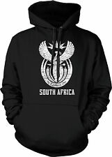 South Africa Coat of Arms Afrikaans Unity In Diversity Cape Town Mens Sweatshirt