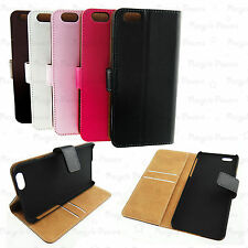 lot PU Leather Flip case card wallet for Apple iphone 6 4.7 inch multi colour