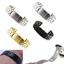New Stainless Steel Solid Links Watch Band Strap Bracelet Straight End 18-22mm