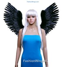Fall Sale Large Open Swing V shape Costume Feather Angel Wings Black White Blue