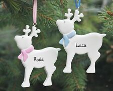 Personalised Christmas Decoration/Reindeer Rudolf