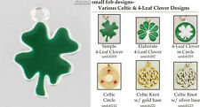 Celtic & 4-Leaf Clover fobs, various designs & keychain options
