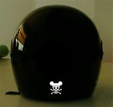 SKULL MICKEY MOTORCYCLE REFLECTIVE HELMET DECAL..2 FOR 1 PRICE