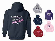 KEEP CALM AND LET (Your Text) HANDLE IT, PERSONALISED CHILD'S HOODY  Age 3 to 15