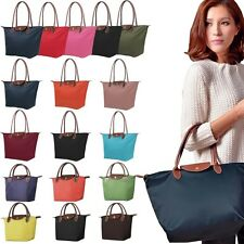 NEW Synthetic Womens Handle Tote Shopping Bag Nylon WaterProof Colorful Handbags