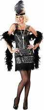 Sexy Adult Halloween InCharacter Flirty Flapper Roaring 20's Costume