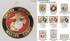 Military & Peacekeeping fobs, various designs & keychain options