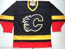 Calgary Flames Black Heroes of Hockey NHL CCM Hockey Jersey Authentic NEW