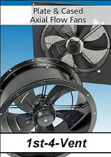 PLATE &  CASED AXIAL EXTRACTOR FANS, Kitchen Canopies, Agriculture, Warehouse