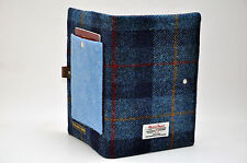 HARRIS TWEED fabric A5 notebook cover - 1 passport pocket