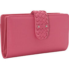 Buxton Hailey-Super Wallet 7 Colors Ladies Clutch Wallet NEW