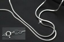 Solid 925 Sterling Silver Fine Snake Box Rope and Curb Chains 18""