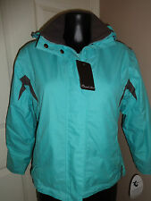 "SHERWOOD FOREST WATERPROOF RIDING YARD COAT JACKET TEAL/CHOCOLATE 33"" CHEST"