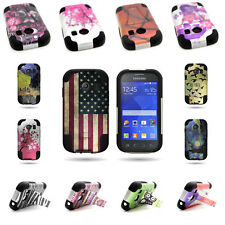 Rugged Shockproof Kickstand Hybrid Cover Case for Samsung Galaxy Ace Style S765c