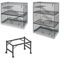 LAZY BONES 2 OR 3 STOREY LARGE ALL METAL FERRET RAT CHINCHILLA CAGE OR STAND NEW