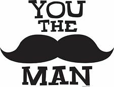 YOU THE MAN - DECOPAC EDIBLE IMAGE CAKE TOPPER DECORATION! PARTY! BIRTHDAY! WOW!
