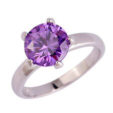 Women Bridal Jewelry Amethyst Gemstone Silver Ring Size 6 7 8 9 10 Free Shipping