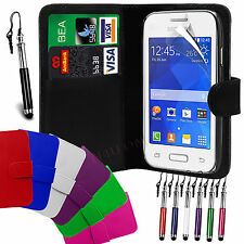 PU Leather Wallet Flip Case Cover, LCD Film & Pen For SAMSUNG Galaxy Young 2