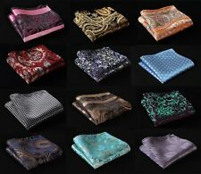 FC floral Paisley Men Silk Satin Pocket Square Hanky Wedding Party Handkerchief