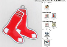 MLB team logo fobs (AL East), pewter-toned, various teams & keychain options