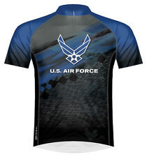 Primal Wear U.S. Air Force Flight Cycling Jersey USAF Mens Short Sleeve with Sox