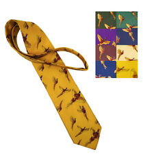 Flying Cock Pheasants Silk Tie BRAND NEW MORE COLOURS Hunting Shooting