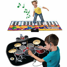 Gigantic Piano Keyboard / Drum Playmat Party Dance Games Kids Fun Musical Mat