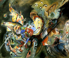 TRÜBE GLOOMY SAD 1917 ABSTRACT PAINTING BY WASSILY KANDINSKY REPRO