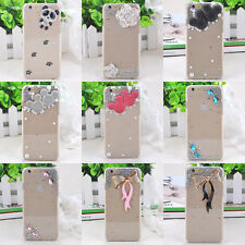 3D Bling Crystal Diamond Clear Transparent Hard PC Case Cover For iphone 6 4.7""