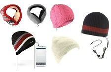 BEANIE HAT - EARMUFFS WITH BUILT IN SPEAKERS HEADPHONES - MP3 iPOD iPHONE 3.5MM