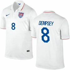 Nike United States USA World Cup WC 2014 Home Soccer Jersey New White DEMPSEY #8