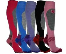 3x Ladies Mens Boys Girls Winter Thermal Long Ski Snowboarding Hiking Boot Socks