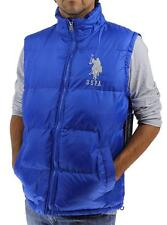 NEW US POLO ASSN MENS ATHLETIC CLASSIC PUFFER ZIP UP BIG PONY BLUE VEST SIZE XL