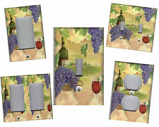 WINE AND GRAPES - TUSCAN HOME DECOR LIGHT SWITCH PLATE