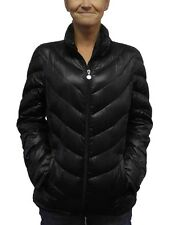 Calvin Klein Women's Packable Lightweight Premium Down Coat NWT Black