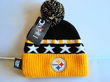 PITTSBURGH STEELERS Football NFL Apparel Reebok YOUTH Knit Cuffed Beanie Hat NEW