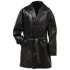 Giovanni Navarre Genuine Leather Mid-Length Trench Coat sz Med - 3X NEW!