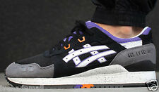 ASICS GEL LYTE III 3 BLACK WHITE PURPLE H425N-9001 Mens