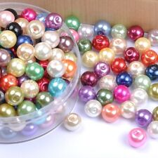 20 to 100Pcs Czech GLASS PEARL Round & Loose Spacer BEADS - 4MM, 6MM, 8MM, 10MM