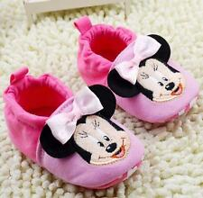 Cute Cotton Baby Girls Minnie Mouse 2 Toned Pink Disney Shoes Pre Walkers
