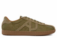ARMANI JEANS MEN'S SHOES SUEDE TRAINERS SNEAKERS NEW GREEN  E63