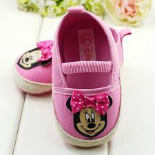 Canvas Baby Girls Summer Minnie Mouse Pink Disney Shoes Pre Walkers