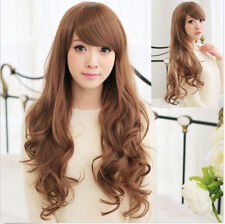 Fashion Women's Long Wavy Curly Hair Full Cosplay Party Costume Dress Wigs+Cap
