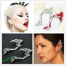 Fashion 1 Pc Clear/Red Rhinestone Elfin Type Left Ear Cuff Earrings Hot Sale