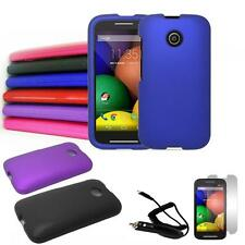 Phone Case For Straight Talk Moto E XT830c Hard Cover Car Charger Screen Guard