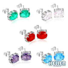 NEW Arrival Fashion Multi-Topaz Gemstone Silver Stud Earrings For Xmas Gift 5/8""